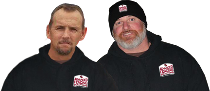 Mike Duncan and Tony Ramsey, owners of Advanced Fencing Solutions