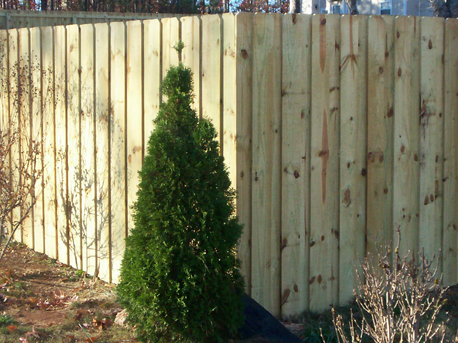 Residential Wood Privacy Fence Lithia Springs, Ga